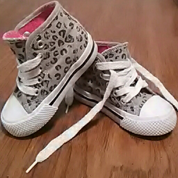 kidgets shoes | leopard print baby high tops | poshmark